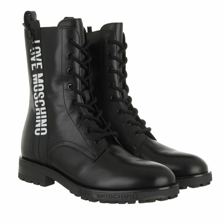 shoes, Love Moschino, Boots Gomma 40 Vitello Nero