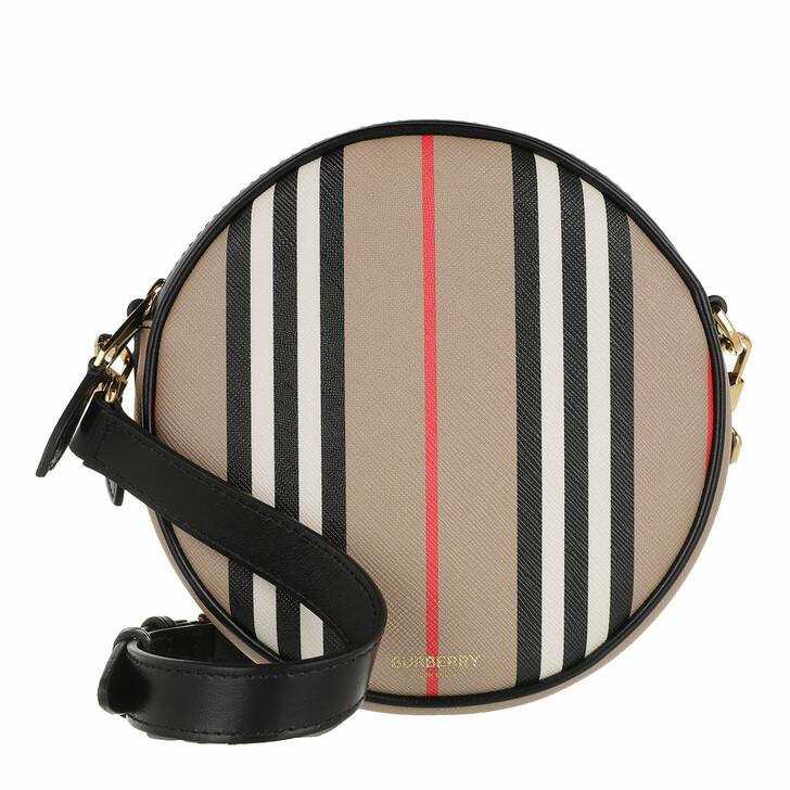 Handtasche, Burberry, Louise Striped Round Crossbody Bag Archive Beige