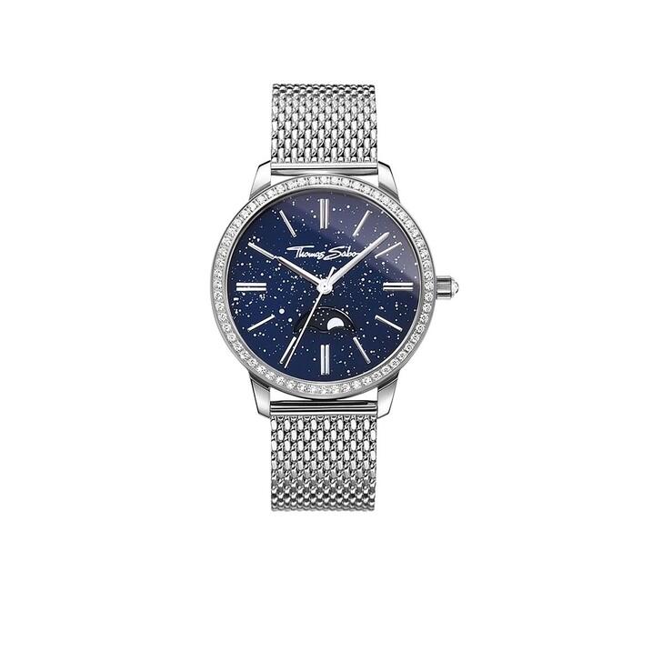 Uhr, Thomas Sabo, Watch Glam Spirit Moonphase Silver/Dark Blue