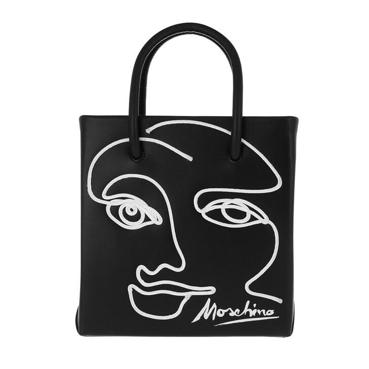 Handtasche, Moschino, Shoulder Bag Fantasy Print Black