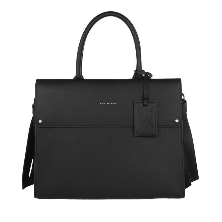Handtasche, Karl Lagerfeld, K/Ikon Top Handle  Black