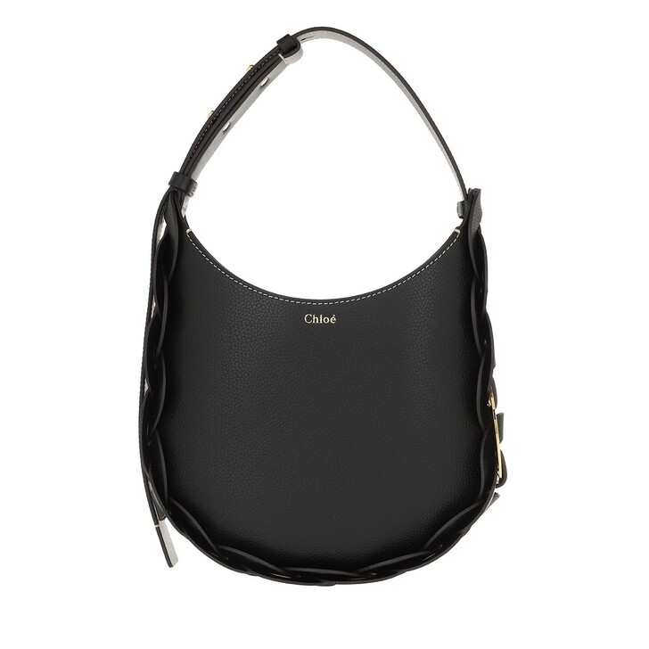 Handtasche, Chloé, Darryl Small Hobo Bag Leather Black