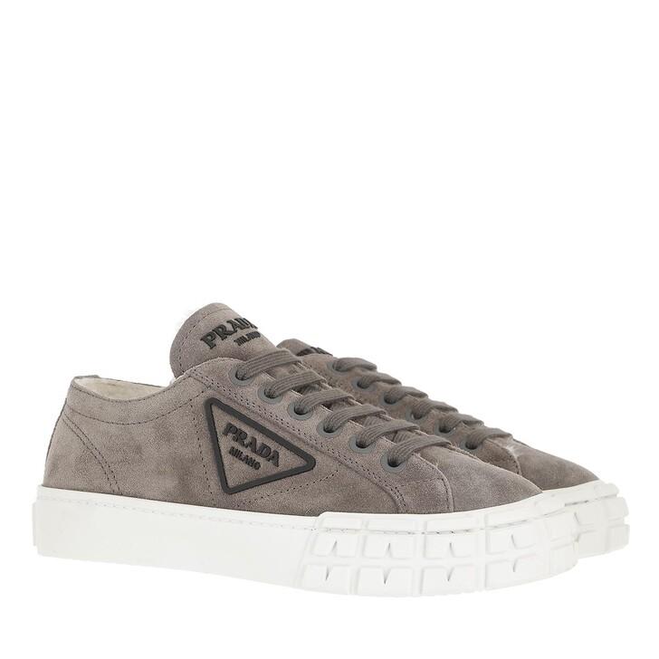 shoes, Prada, Sneakers Leather Ghiaia Natural