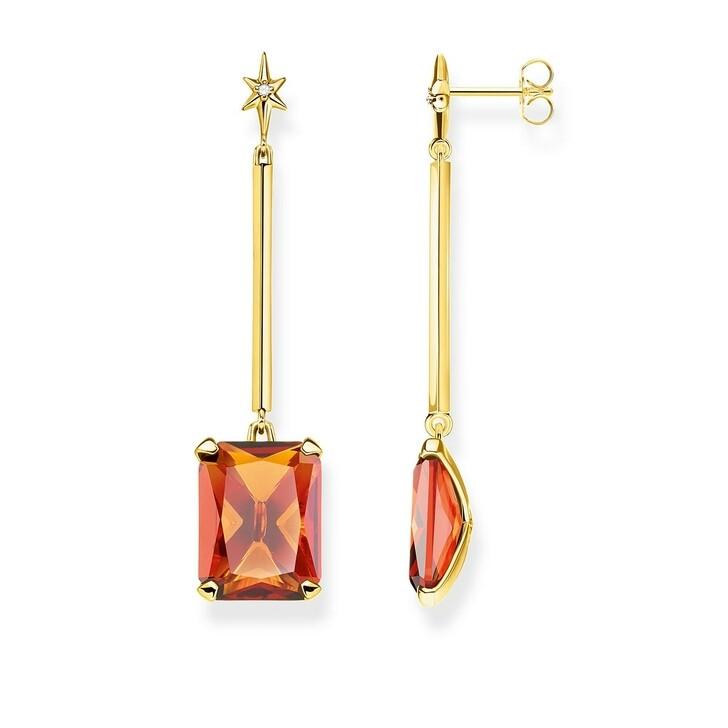 Ohrring, Thomas Sabo, Earrings Orange Colored Stones Gold