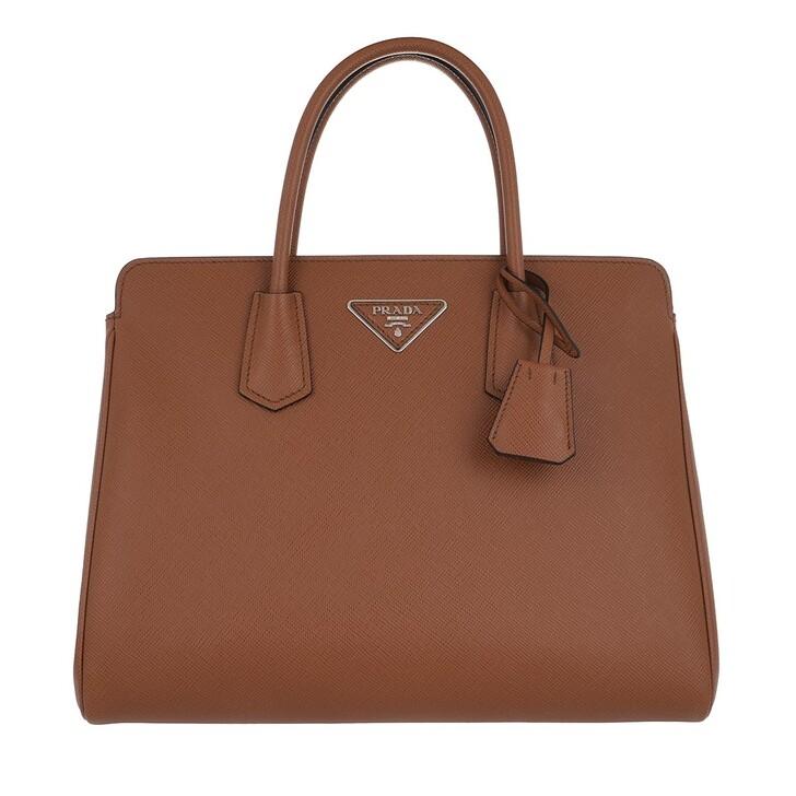 Handtasche, Prada, Shoulder Bag Leather Cognac