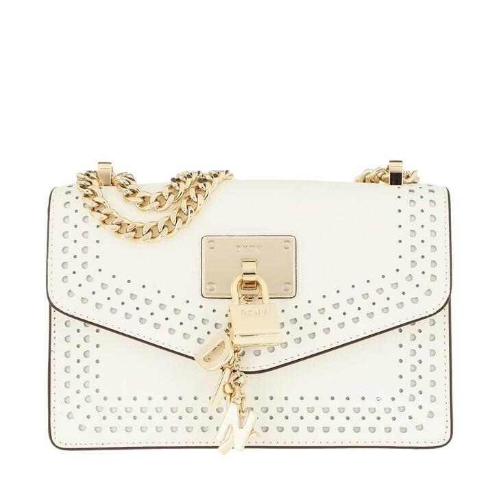Handtasche, DKNY, Elissa Shoulder Bag White/Gold