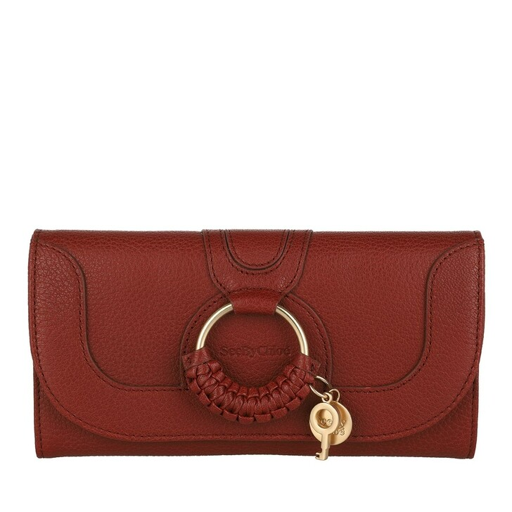 wallets, See By Chloé, Hana Wallet Large Smoked Red