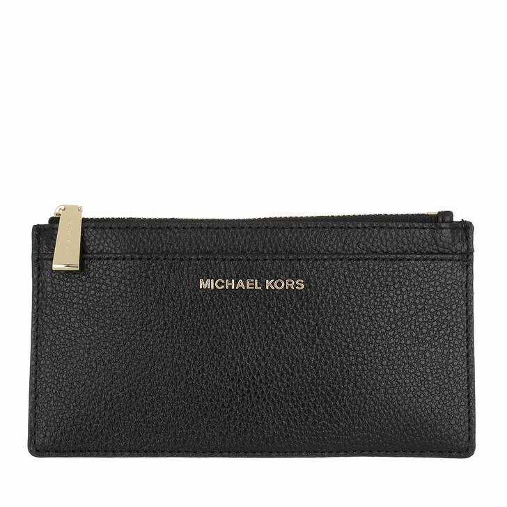 wallets, MICHAEL Michael Kors, Jet Set Large Slim Card Case Black