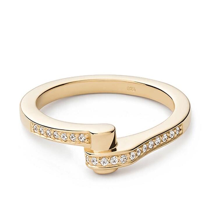 rings, Miansai, Nyx Ring Vermeil Polished Gold/White Sapphire