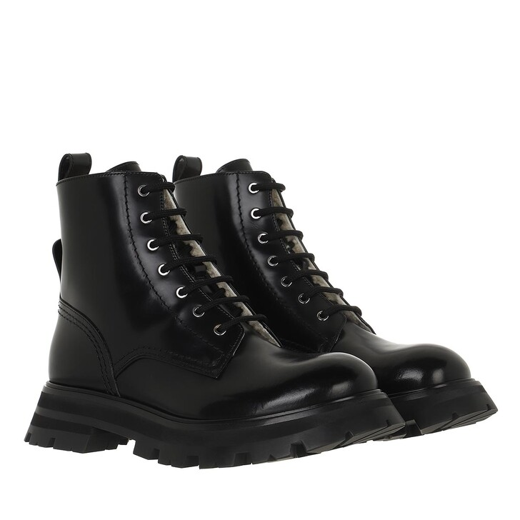 shoes, Alexander McQueen, Ankle Boots Leather Black
