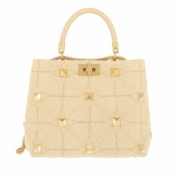 bags, Valentino Garavani, Small Roman Stud Handle Bag Black