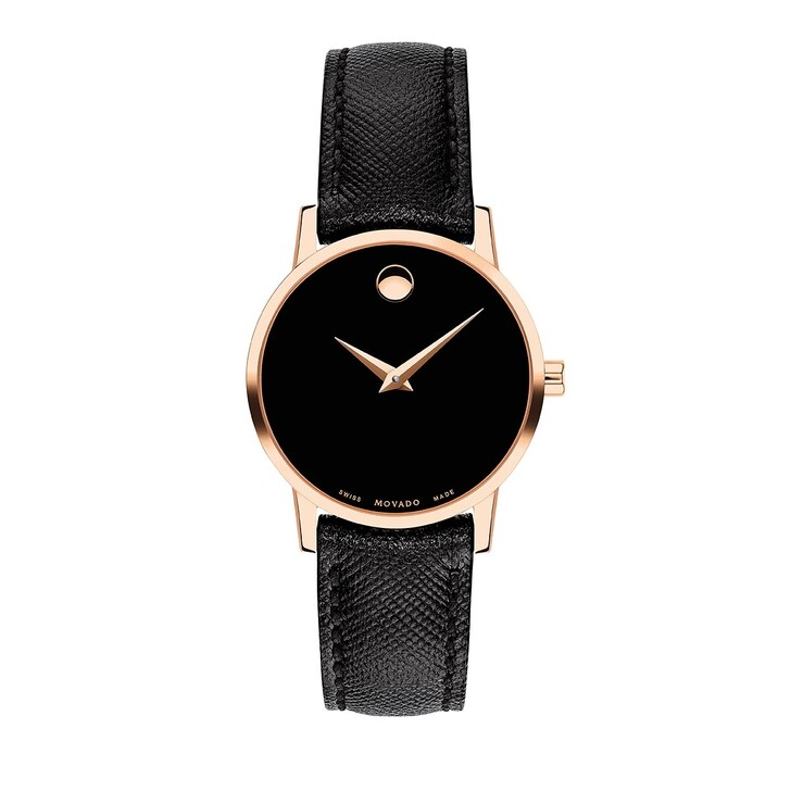 watches, Movado, Museum Classic Watch Black/Rose Gold