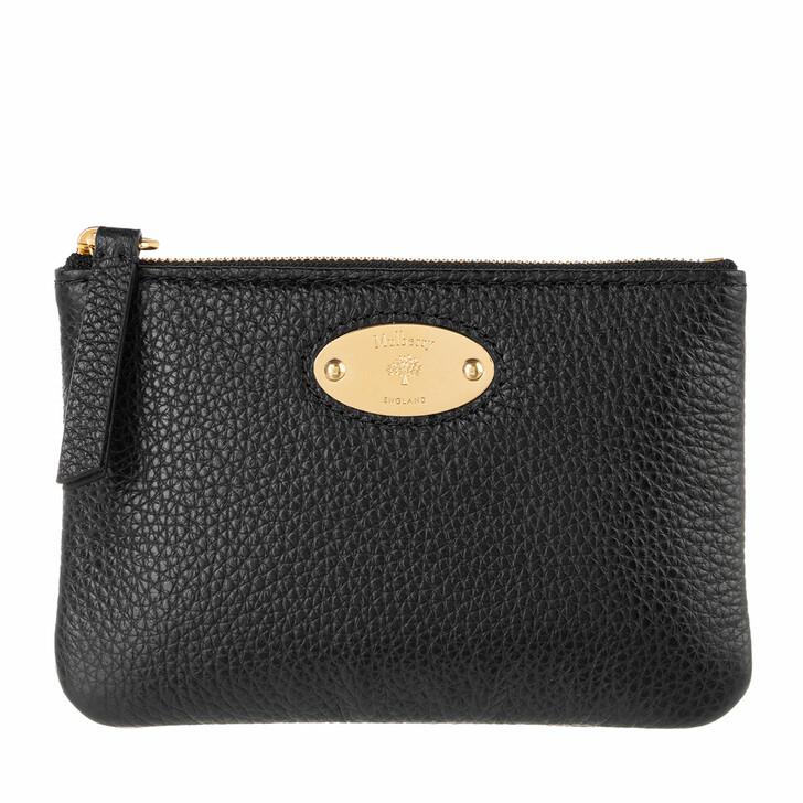 Geldbörse, Mulberry, Wallet Leather Black