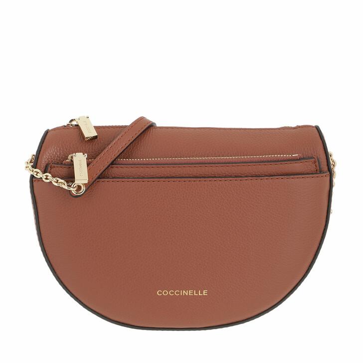 bags, Coccinelle, Mini Bag Mini Bag Bottalatino Leather Cinnamon