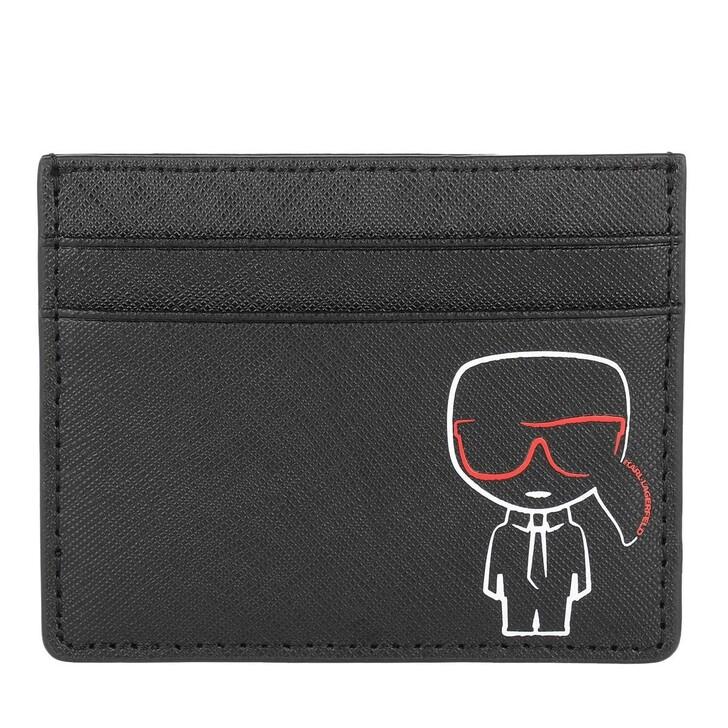 Geldbörse, Karl Lagerfeld, Ikonik Outline Cardholder Wallet Black