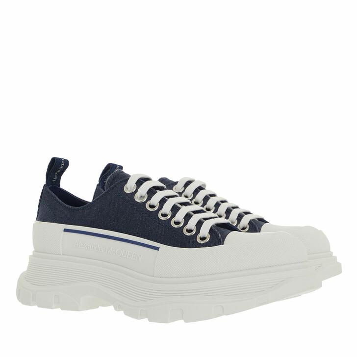 Schuh, Alexander McQueen, Tread Slick Lace Up Sneakers Blue