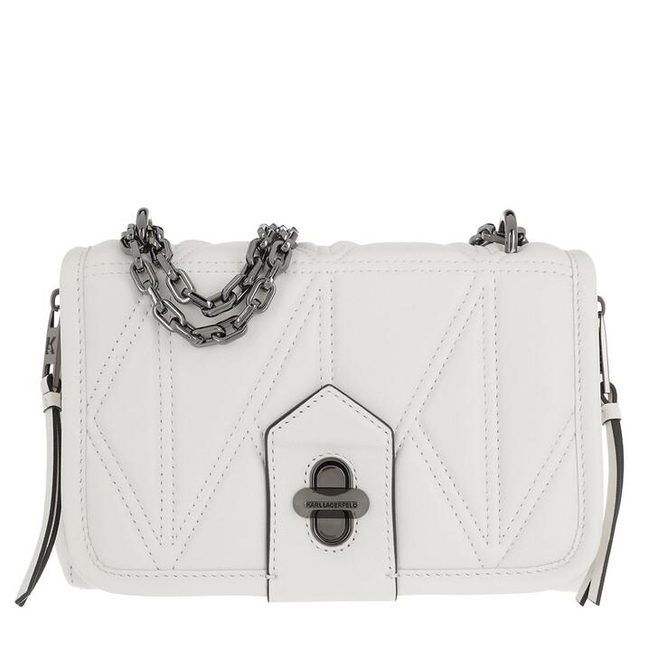 Handtasche, Karl Lagerfeld, Studio Zip Shoulderbag White