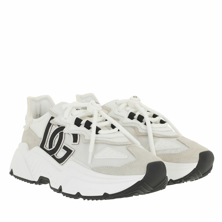 shoes, Dolce&Gabbana, Daymasters Sneakers Mixed Materials White