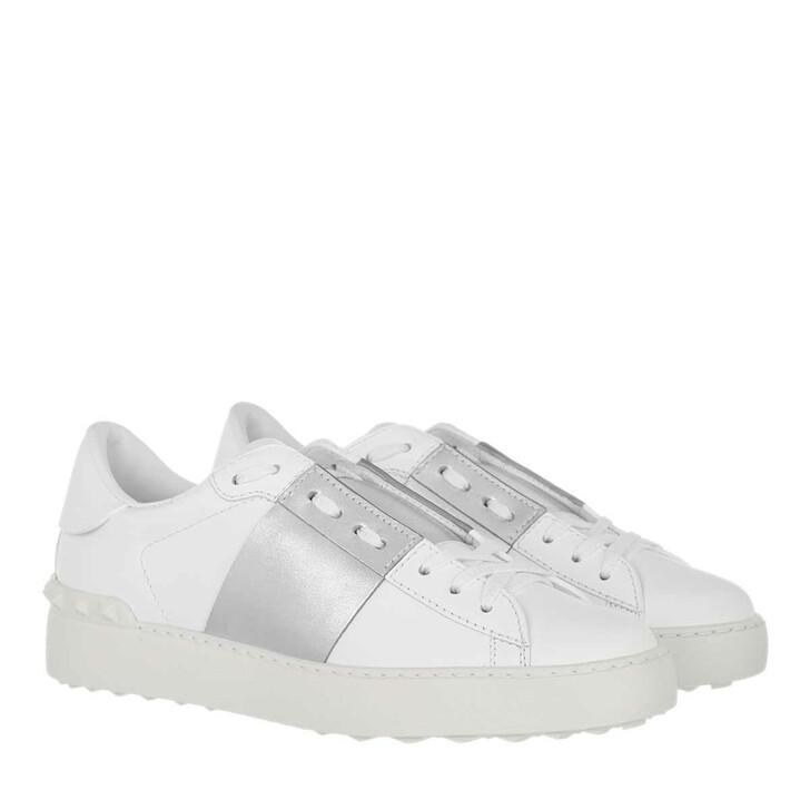 shoes, Valentino Garavani, Bicolor Rockstud Sneaker White Silver