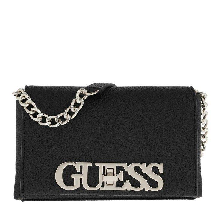 bags, Guess, Uptown Chic Mini Xbody Flap Black