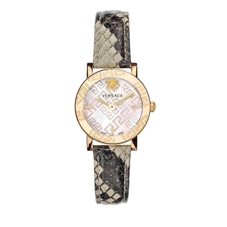 watches, Versace, GRECA GLASS Watch Beige