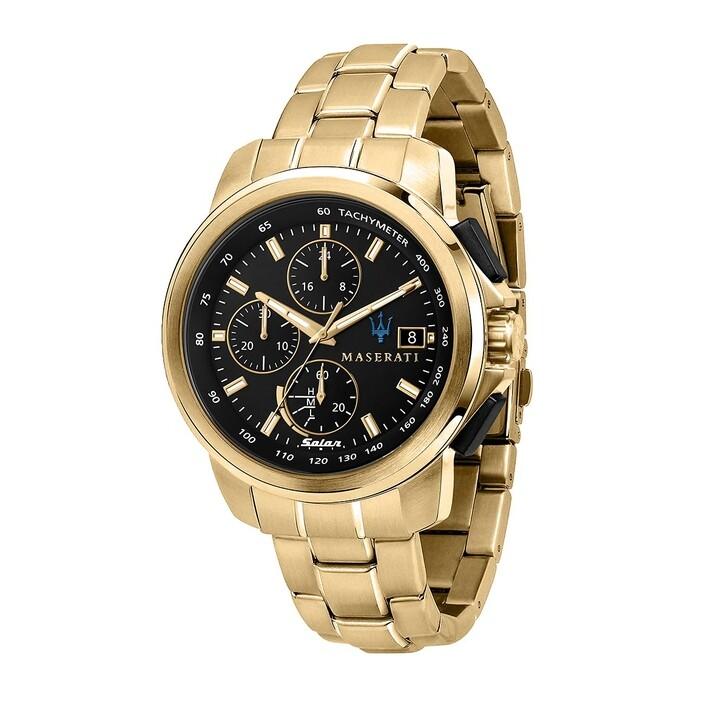 watches, Maserati, Successo 44mm Solar  gold