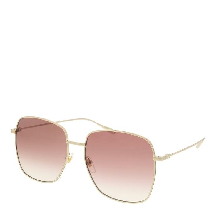 sunglasses, Gucci, GG1031S-002 59 Sunglass Woman Metal Gold-Gold-Red