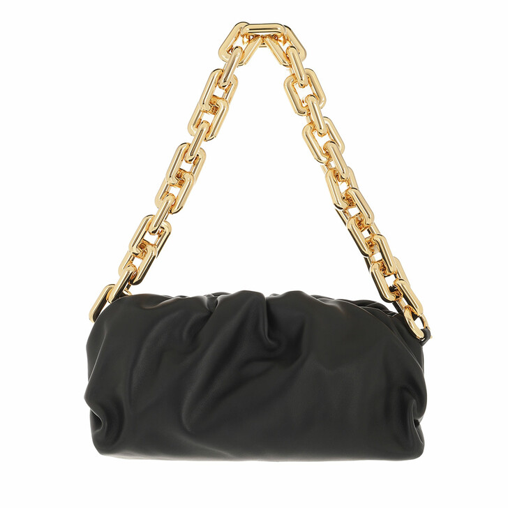 bags, Bottega Veneta, The Chain Medium Pouch Leather Black