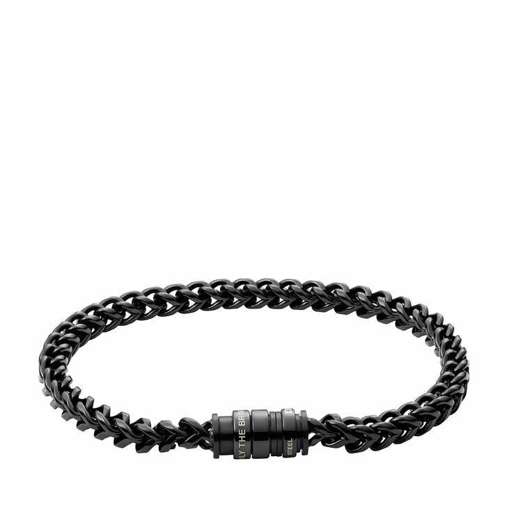 Armreif, Diesel, Stainless Steel Chain-Link Bracelet Black