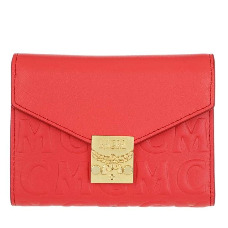 Geldbörse, MCM, Three Fold Wallet Small Poppy Red