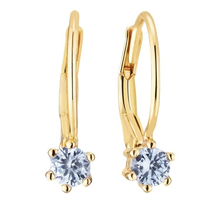 earrings, Sif Jakobs Jewellery, Rimini Earrings 18 Carat Yellow Gold/Blue