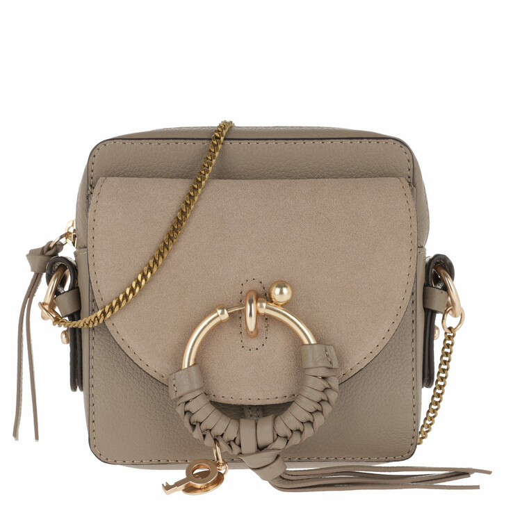 Handtasche, See By Chloé, Joan Camera Bag Leather Motty Grey