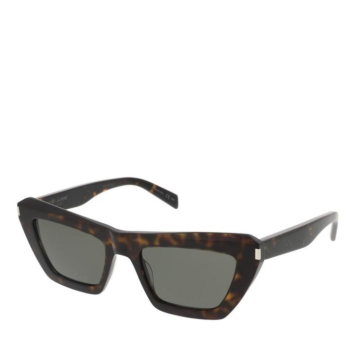 sunglasses, Saint Laurent, SL 467-002 52 Sunglass Woman Acetate Havana-Havana-Grey