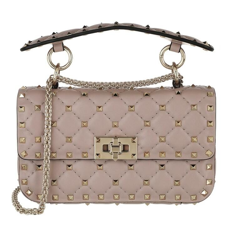 bags, Valentino Garavani, Rockstud Spike Crossbody Bag Small Poudre