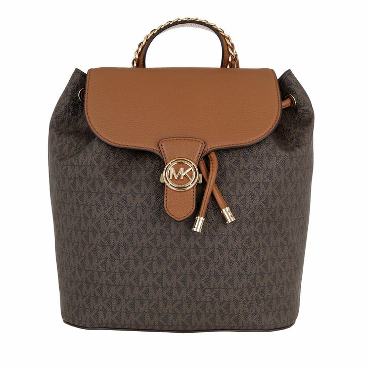 bags, MICHAEL Michael Kors, Mina Large Drawstring Backpack Brown/Acorn