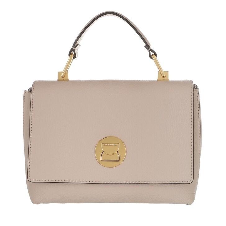 bags, Coccinelle, Liya Clutch Bag Powder Pink/Lambskin White
