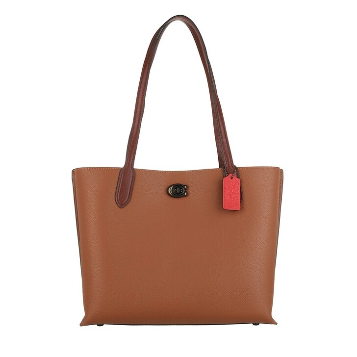 Handtasche, Coach, Colorblock Leather With Coated Canvas Signature In V5/1941 Saddle Multi