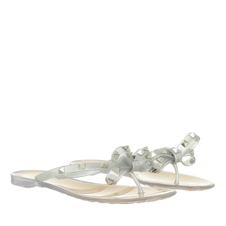 shoes, Valentino Garavani, Sandals  Silver