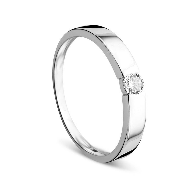 Ring, DIAMADA, 0.13ct Diamond Solitaire Ring  14KT White Gold