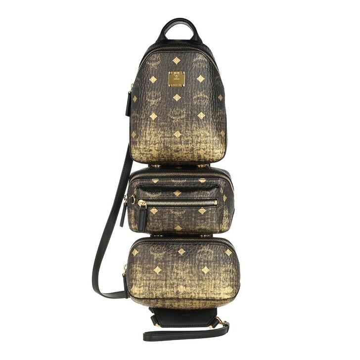 bags, MCM, Medium Trey Sling Medium Gold