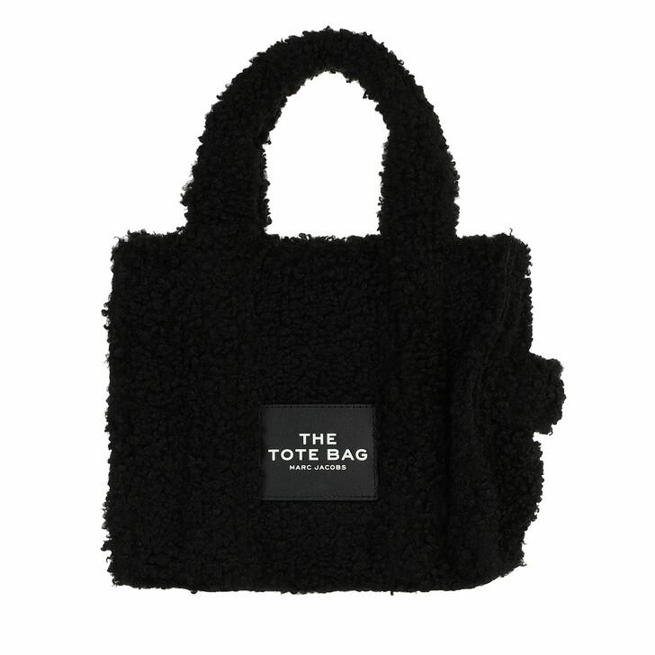 bags, Marc Jacobs, Mini Traveler Teddy Tote Bag Black