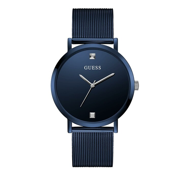 Uhr, Guess, Mens Dress Stainless Steel Watch Blue