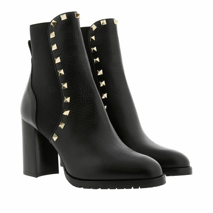 Schuh, Valentino Garavani, Rockstud Ankle Boots 90 Leather Black