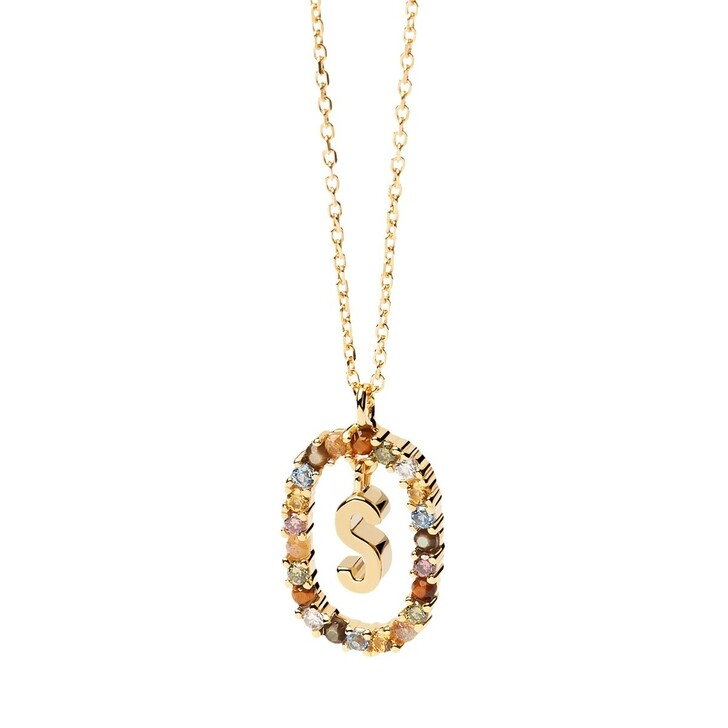 Kette, PDPAOLA, Necklace Letter S Yellow Gold