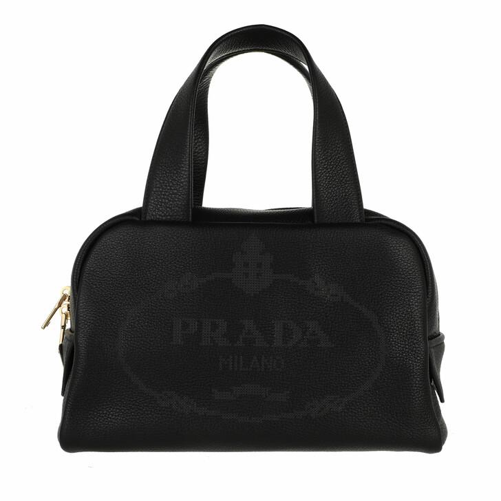 bags, Prada, Shoulder Bag Leather Black