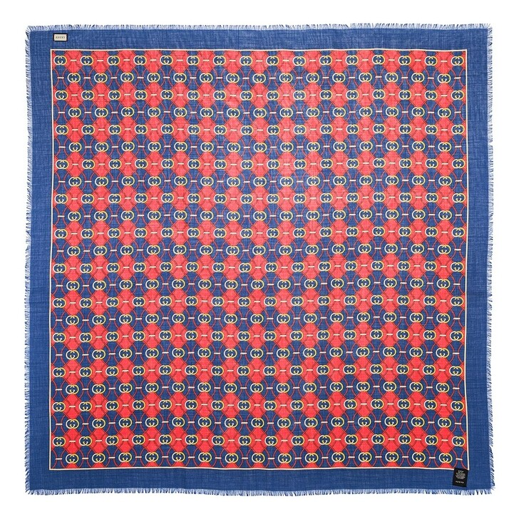 scarves, Gucci, GG Scarf Blue/Red