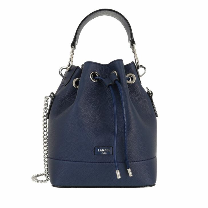 bags, Lancel, S Bucket Bag Petrol Blue
