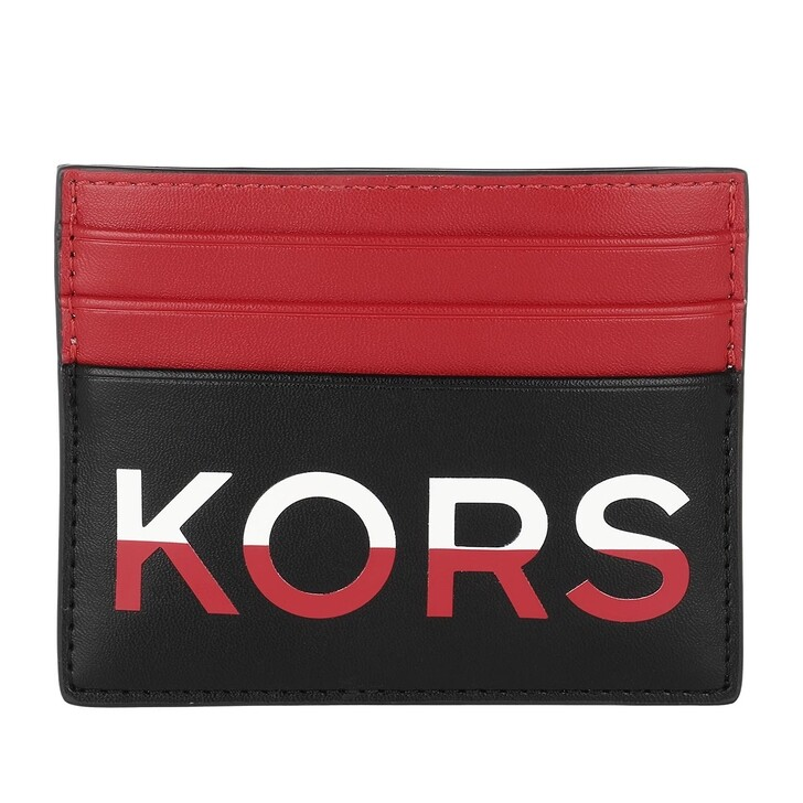 Geldbörse, MICHAEL Michael Kors, Men Tall Card Case Black Red