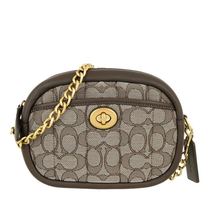 bags, Coach, Quilted Signature Jacquard Camera Bag Oak/Maple