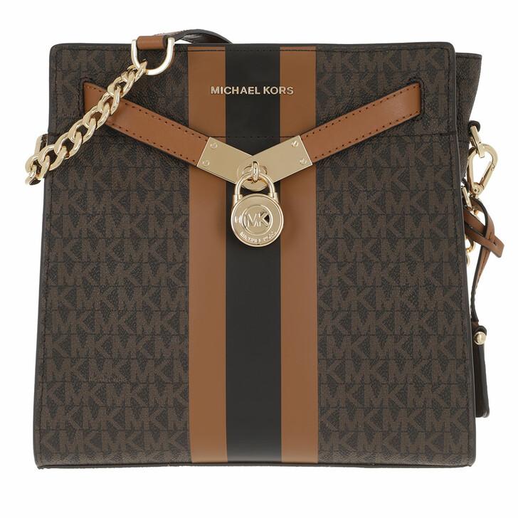 Handtasche, MICHAEL Michael Kors, Nouveau Hamitlon Messenger Bag Brown/Acorn